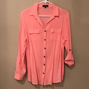 Long sleeved button down shirt Large